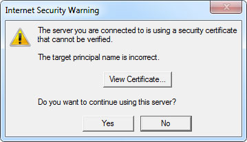 Email Outlook 2013 Security Warning